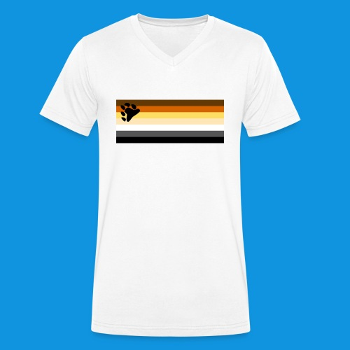 Bear Flag tank - Men's Organic V-Neck T-Shirt by Stanley & Stella