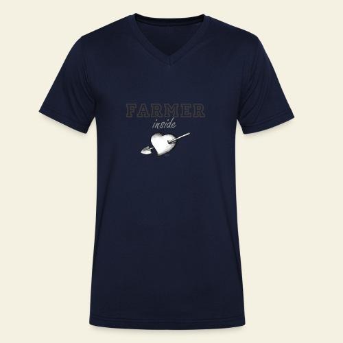 Hearth farmer - T-shirt ecologica da uomo con scollo a V di Stanley & Stella