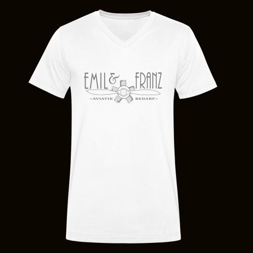 EmilUndFranz - Männer Bio-T-Shirt mit V-Ausschnitt von Stanley & Stella