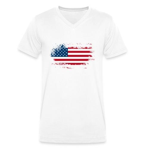 America - Mannen bio T-shirt met V-hals van Stanley & Stella