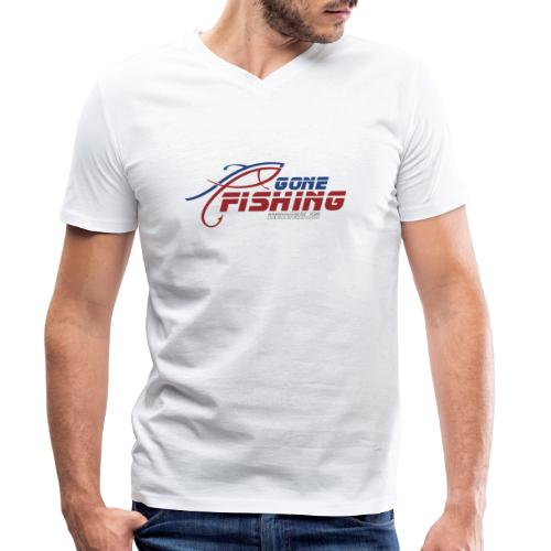 GONE-FISHING (2022) DEEPSEA/LAKE BOAT COLLECTION - Men's Organic V-Neck T-Shirt by Stanley & Stella