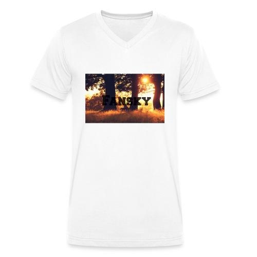 Fansky Black One - Camiseta ecológica hombre con cuello de pico de Stanley & Stella