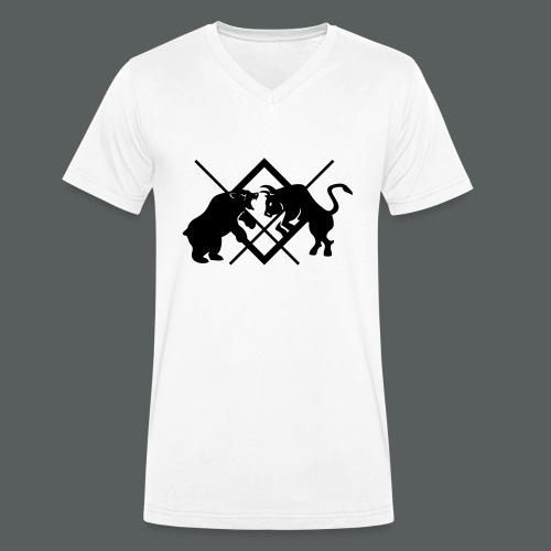 Bull&Bear Clothes - Männer Bio-T-Shirt mit V-Ausschnitt von Stanley & Stella