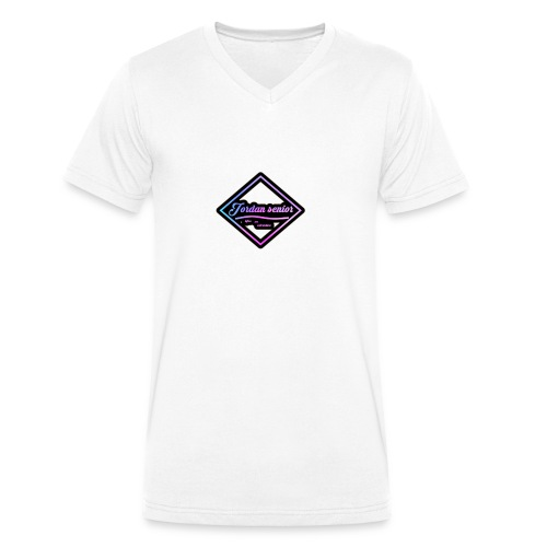 jordan sennior logo - Men's Organic V-Neck T-Shirt by Stanley & Stella