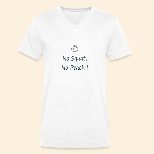 No squat, no peach in blue - T-shirt bio col V Stanley & Stella Homme