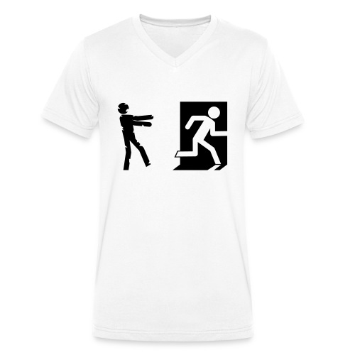 Zombie Invasion Notausgang - Männer Bio-T-Shirt mit V-Ausschnitt von Stanley & Stella