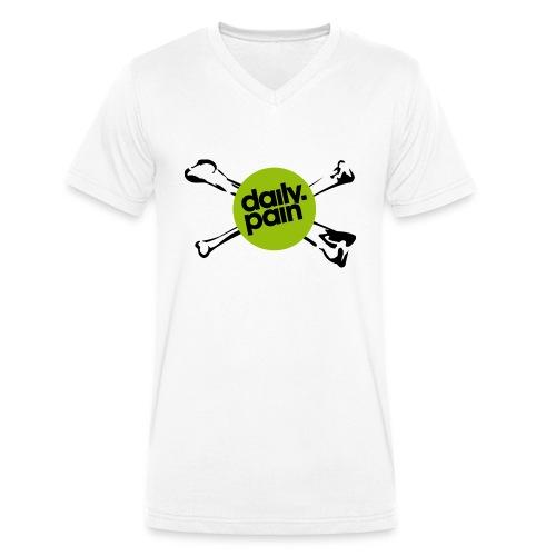 daily pain cho kark - Ekologiczna koszulka męska z dekoltem w serek Stanley & Stella