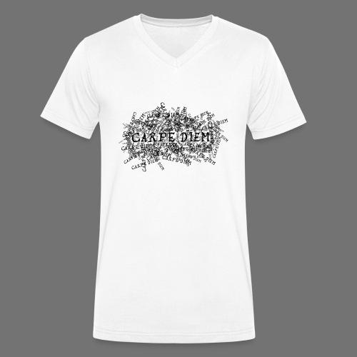 carpe diem (black) - Men's Organic V-Neck T-Shirt by Stanley & Stella