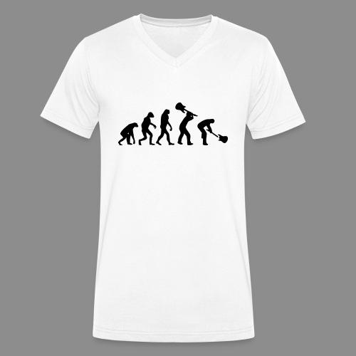 Evolution Rock - Camiseta ecológica hombre con cuello de pico de Stanley & Stella
