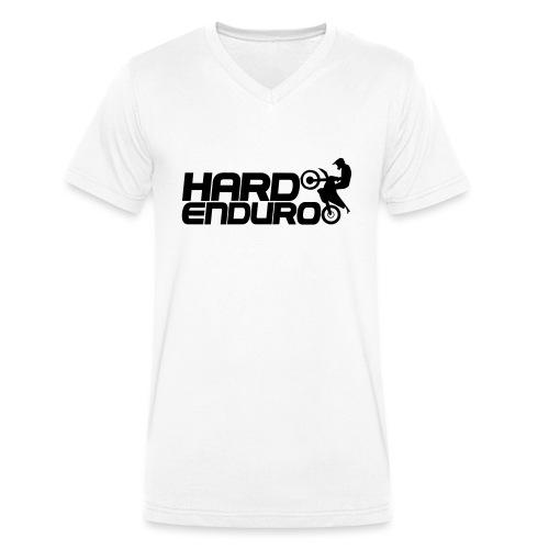 Hard Enduro Biker - Männer Bio-T-Shirt mit V-Ausschnitt von Stanley & Stella