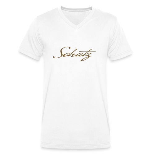 Schatz Baseballshirt - Ekologisk T-shirt med V-ringning herr från Stanley & Stella