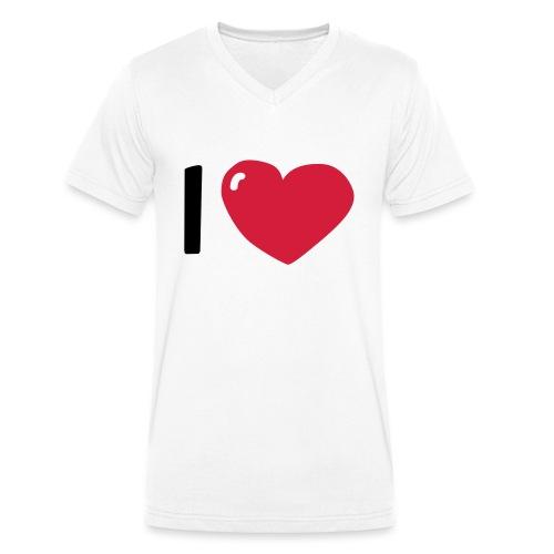 I love / I heart / I herz (Waldorf Style) - Männer Bio-T-Shirt mit V-Ausschnitt von Stanley & Stella