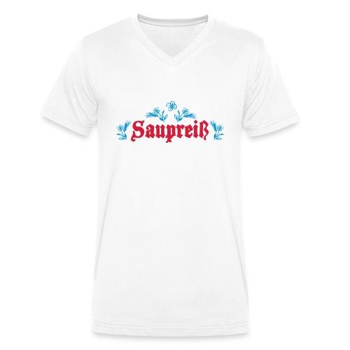 Saupreiß - Männer Bio-T-Shirt mit V-Ausschnitt von Stanley & Stella