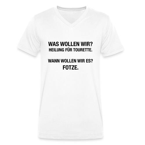 Tourette - Männer Bio-T-Shirt mit V-Ausschnitt von Stanley & Stella