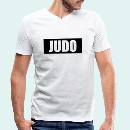 Judo Schwarz DAN - Männer Bio-T-Shirt mit V-Ausschnitt von Stanley & Stella