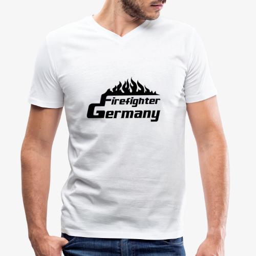 Firefighter Germany - Männer Bio-T-Shirt mit V-Ausschnitt von Stanley & Stella