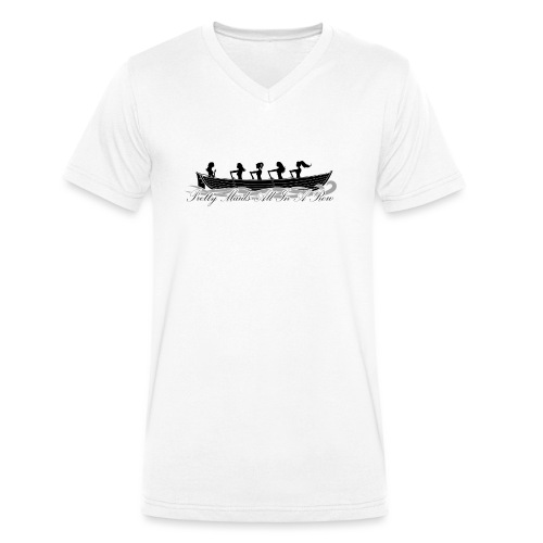pretty maids all in a row - Men's Organic V-Neck T-Shirt by Stanley & Stella