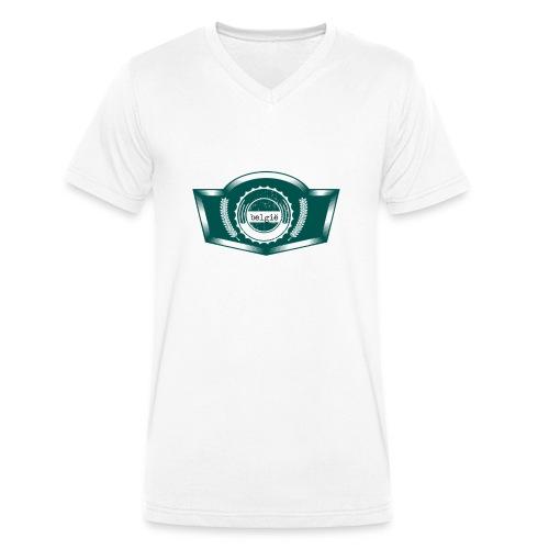 Belgium T Shirt Design(7) - Männer Bio-T-Shirt mit V-Ausschnitt von Stanley & Stella