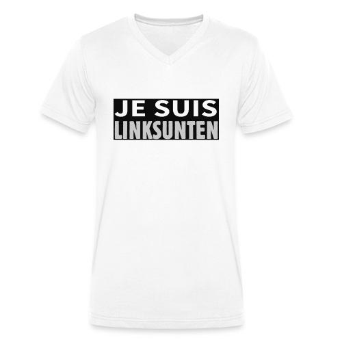 je suis linksunten - Männer Bio-T-Shirt mit V-Ausschnitt von Stanley & Stella