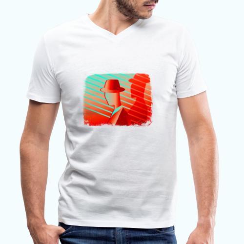 Men In Red Vintage 80s - Men's Organic V-Neck T-Shirt by Stanley & Stella