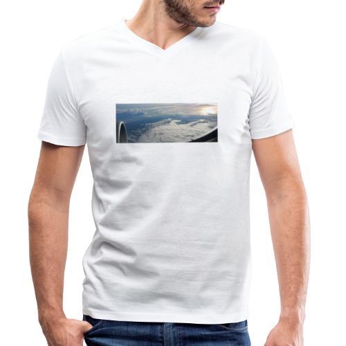Flugzeug Himmel Wolken Australien - 2. Motiv - Männer Bio-T-Shirt mit V-Ausschnitt von Stanley & Stella