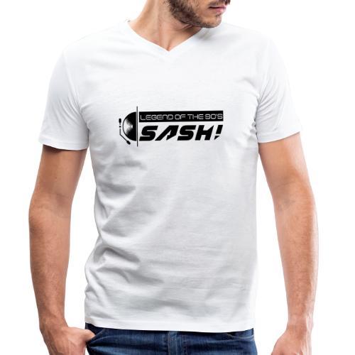 DJ SASH! Turntable 2020 Logo - Men's Organic V-Neck T-Shirt by Stanley & Stella