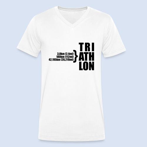 Triathlon Sport Distance - Männer Bio-T-Shirt mit V-Ausschnitt von Stanley & Stella