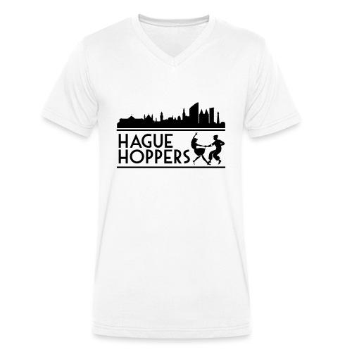 Hague Hoppers black logo - Mannen bio T-shirt met V-hals van Stanley & Stella