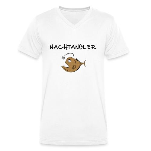 Nachtangler Anglerfisch - Männer Bio-T-Shirt mit V-Ausschnitt von Stanley & Stella