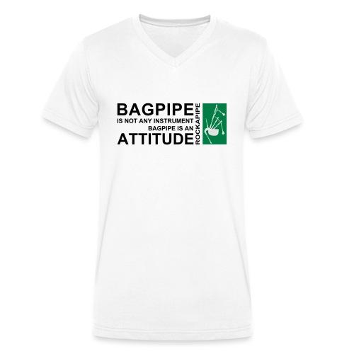 Bagpipe is Attitude.svg - Männer Bio-T-Shirt mit V-Ausschnitt von Stanley & Stella
