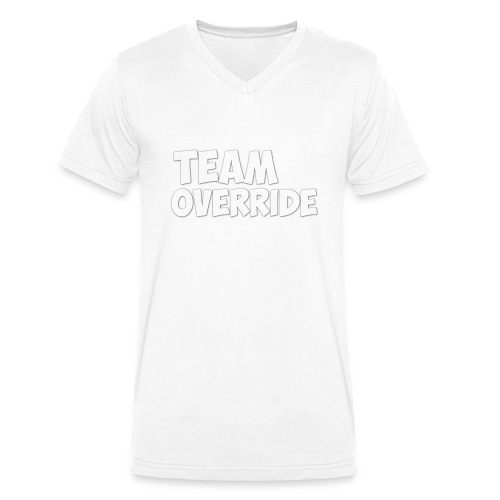 Team Override T-Shirt grey Youtube - Men's Organic V-Neck T-Shirt by Stanley & Stella