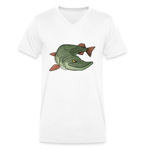 Red River: Pike - Men's Organic V-Neck T-Shirt by Stanley & Stella