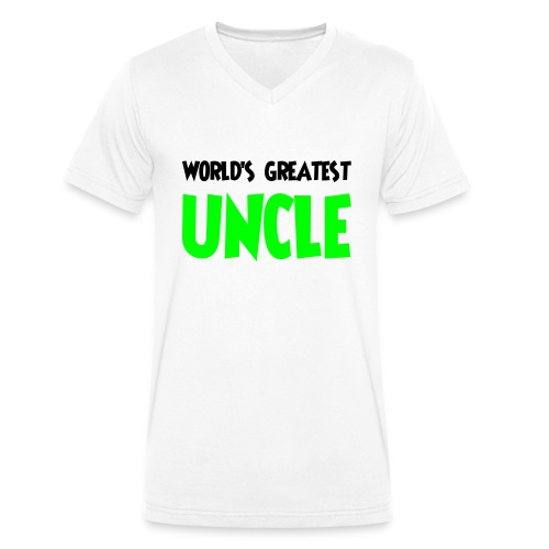 World's greatest uncle - Men's Organic V-Neck T-Shirt by Stanley & Stella
