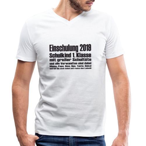 Einschulung-2019 - Männer Bio-T-Shirt mit V-Ausschnitt von Stanley & Stella