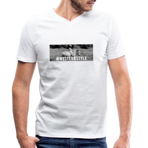 #westernstyle - T-shirt bio col V Stanley & Stella Homme