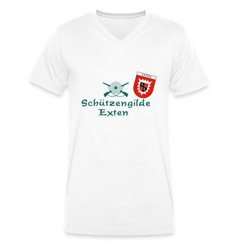 Schützengilde Exten mit Wappen - Männer Bio-T-Shirt mit V-Ausschnitt von Stanley & Stella