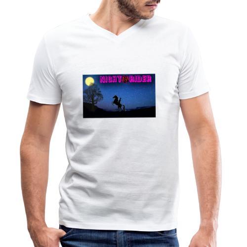 nightrider merch - Økologisk Stanley & Stella T-shirt med V-udskæring til herrer