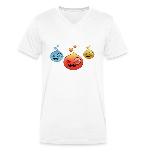 Outlezz - Gentlemen Slime - Männer Bio-T-Shirt mit V-Ausschnitt von Stanley & Stella