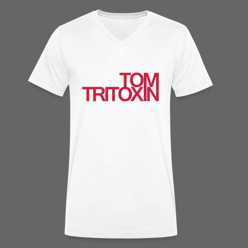 TOM TRITOXIN LONGSHIRT Black - Männer Bio-T-Shirt mit V-Ausschnitt von Stanley & Stella