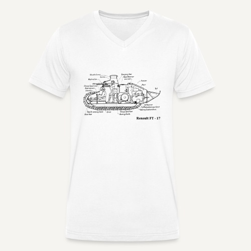 ft17 - Ekologiczna koszulka męska z dekoltem w serek Stanley & Stella