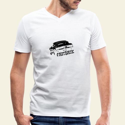 67 Fastback - Økologisk Stanley & Stella T-shirt med V-udskæring til herrer