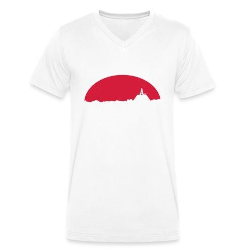 Skyline - Männer Bio-T-Shirt mit V-Ausschnitt von Stanley & Stella
