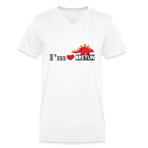 bretun negro - Camiseta ecológica hombre con cuello de pico de Stanley & Stella