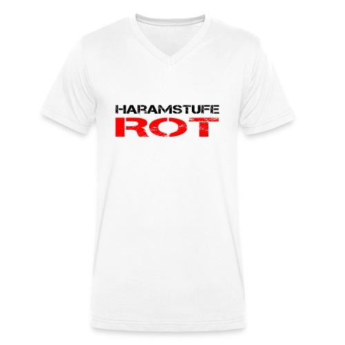 HARAMSTUFE ROT - Männer Bio-T-Shirt mit V-Ausschnitt von Stanley & Stella