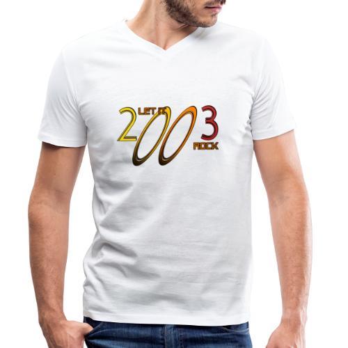 Let it Rock 2003 - Männer Bio-T-Shirt mit V-Ausschnitt von Stanley & Stella