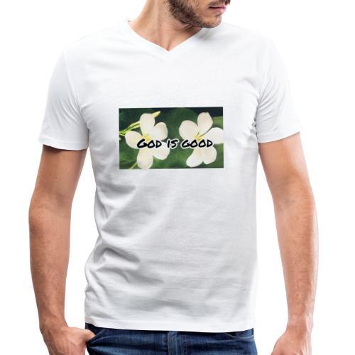God is good - Men's Organic V-Neck T-Shirt by Stanley & Stella