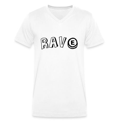 Rave E - Men's Organic V-Neck T-Shirt by Stanley & Stella