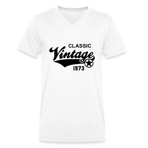 Classic Vintage 1973 Birthday Geburtstag 40th - Männer Bio-T-Shirt mit V-Ausschnitt von Stanley & Stella