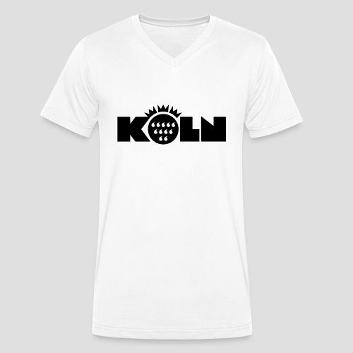Köln Wappen modern - Männer Bio-T-Shirt mit V-Ausschnitt von Stanley & Stella