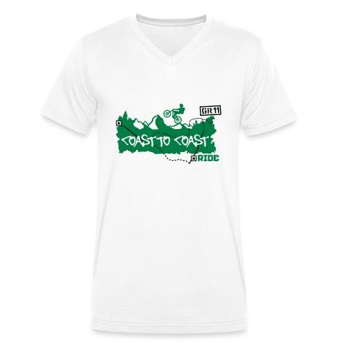 Coast to Coast Ride - Männer Bio-T-Shirt mit V-Ausschnitt von Stanley & Stella